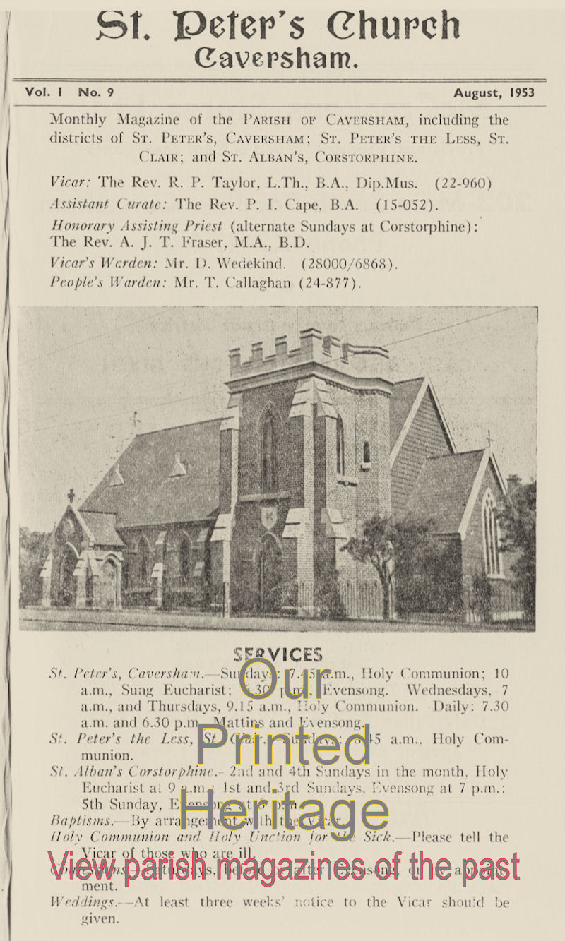 View digitised copies of historic Parish Magazines