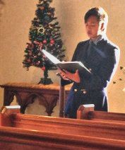 Tom Woodman as soloist :  Festival of Nine Lessons and Carols, 21 December 2014