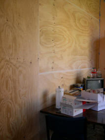 The plywood partition